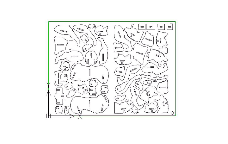 3d十二生肖虎线切割图案