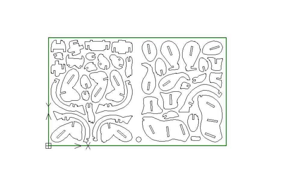 3d十二生肖兔线切割图案