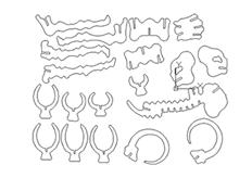 线切3D- 大象,线切割图纸免费下载