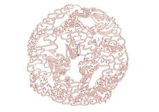 线切割2D-双龙吐珠,线切割图纸免费下载